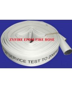 สายส่งน้ำดับเพลิงโพลีเอสเตอร์สีขาว 2.5 นิ้วx30 เมตร  พร้อมข้อต่ออลูมิเนียม  ยี่ห้อ Zyfire มาตรฐาน UL