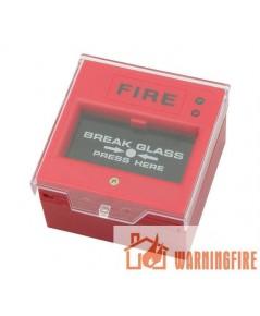 ปุ่มกดแจ้งเตือนเพลิงไหม้พร้อมฝาครอบ ใช้ไฟ 220VAC/24VDC รุ่น WP-04 ยี่ห้อ Warningfire