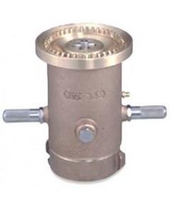 หัวฉีดน้ำดับเพลิงปรับฝอย 3 ระดับ 2.5 นิ้ว วัสดุทองเหลือง รุ่น 823-BC ยี่ห้อ Protek มาตรฐาน FM
