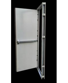 ประตูทนไฟบานเดี่ยว 90x200 cm.  แบบคานผลัก รุ่น DM-9 ไม่รวมคานผลัก,กุญแจมือจับ,โช็คอัพ