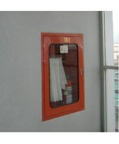 ตู้เก็บสายส่งน้ำดับเพลิงแบบแล๊คชนิดฝังจม พร้อมอุปกรณ์ขนาด 80x30x100 cm.