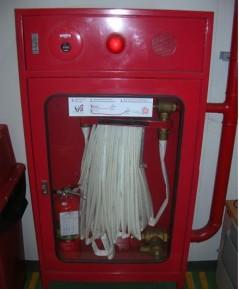 ตู้เก็บสายส่งน้ำดับเพลิงชนิดโฮสรีล/โฮสแล๊ค พร้อมอุปกรณ์ไฟร์อลาร์มชนิดมีขาตั้งสูง 30 cm.ขนาด130x80x30