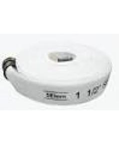 สายส่งน้ำดับเพลิงผ้าใบ/ยางสังเคราะห์ 1.5นิ้วx30เมตร สีขาว ยี่ห้อ 5Elem มาตรฐาน FM พร้อมข้อต่อ