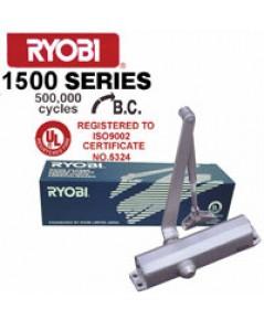 โช๊คอัพประตูหนีไฟแบบไม่ตั้งค้างรับน้ำหนัก 65-80 kg.รุ่น D1504 ยี่ห้อ RYOBI ประเทศญี่ปุ่น มาตรฐาน UL