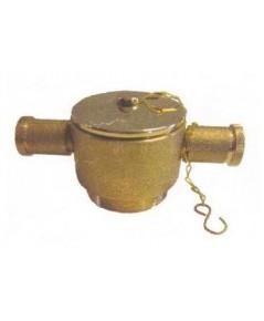 ข้อต่อข้างสองหูเกลียวนอก/สวมเร็วทองเหลืองพร้อมฝาปิดโซ่คล้อง ขนาด 2.5 นิ้ว