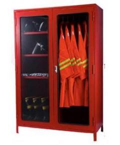 ตู้เก็บชุดดับเพลิง 2 ชุด 80x120x40 cm.ขาสูง 10 cm.พร้อมชุดซ้อมดับเพลิงแบบคลุมครบเซ็ต 2 ชุด