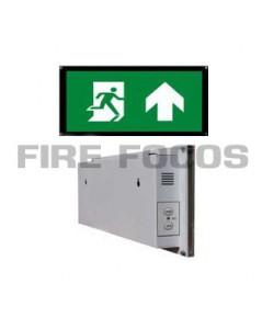 ป้ายไฟฉุกเฉินหลอด LED สองหน้า แบบกรอบรูป มีชุดรับสัญญาณรีโมทคอนโทรล รุ่น FR002R ยี่ห้อ Iversa