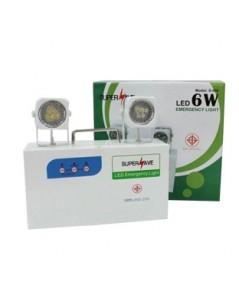 ไฟฉุกเฉิน ไฟสำรอง LED 2x6W รุ่น S-006 สำรองไฟ 4 ชั่วโมง ยี่ห้อ Supersave