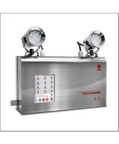 โคมไฟฉุกเฉินกันน้ำ IP65 ตัวถังสแตนเลส LED 2x9W.,สำรองไฟ 5 ชม.รุ่น MCU 209ST5 ยี่ห้อ Sunny