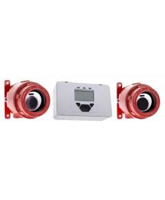 ชุดตู้ควบคุมพร้อมอุปกรณ์ Beam Smoke Detector ประเภทกันระเบิดรุ่น F3000 EXD/CTL ยี่ห้อ Fireray 3000