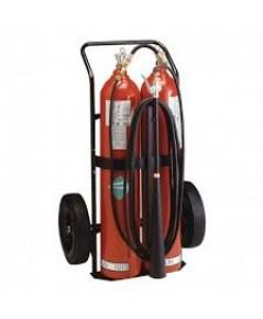 ถังดับเพลิงแบบรถเข็น CO2 ขนาด 100 ปอห์น Fire Rating 20B:C รุ่น CD100-2 ยี่ห้อ BADGER ,UL listed