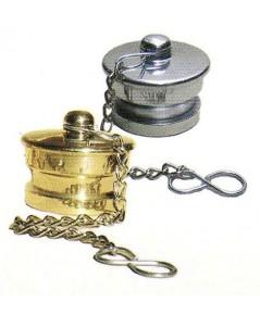 ฝาปิดตัวผู้แบบสวมเร็ววัสดุทองเหลืองหรืออลูมิเนียม พร้อมโซ่คล้อง