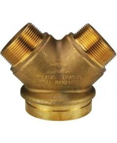 หัวจ่ายน้ำดับเพลิง Y-Type ทองเหลือง 4x2.5x2.5 นิ้ว มาตรฐาน UL รุ่น 26-294 ยี่ห้อ DIXON-POWHATAN