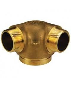 หัวจ่ายน้ำดับเพลิง 90\' degree ทองเหลือง 4x2.5x2.5 นิ้ว มาตรฐาน UL รุ่น 26-296 ยี่ห้อ DIXON-POWHATAN