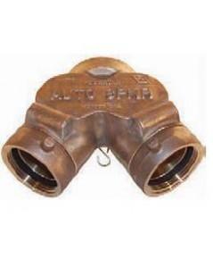 หัวรับน้ำดับเพลิงทองเหลือง Y-Type ขนาด 4x2.5x2.5 นิ้ว มาตรฐาน UL รุ่น 21-132 ยี่ห้อ DIXON-POWHATAN