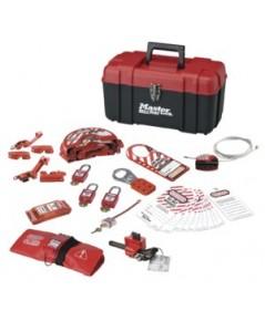 Personal Lockout Kits แบบกล่อง สำหรับงานไฟฟ้าและท่อ รุ่น 1457VE410KA ยี่ห้อ Master LOCK
