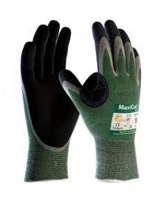 ถุงมือป้องกันการบาดออกแบบมาเพื่อใช้งานหยิบจับสิ่งของที่มีความคมมาก รุ่น JWC34304 ยี่ห้อ MaxiCut Oil