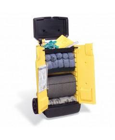 ชุดรถเข็นพร้อมอุปกรณ์ดูดซับของเหลว,น้ำมัน,สารละลายต่างๆ รุ่น KIT244 ยี่ห้อ PIG Spill Kit
