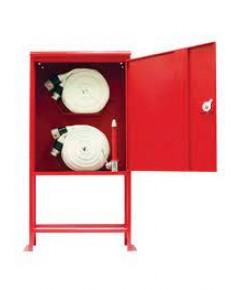 ตู้เก็บสายส่งน้ำดับเพลิงสองเส้นและอุปกรณ์หัวฉีด ขวาน ถังดับเพลิง 80x110x35 cm.พร้อมขาตั้ง 50 cm.