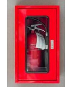 ตู้เก็บถังดับเพลิงถังเดี่ยว 40x70x20 cm กระจกธรรมดา กุญแจกดเด้ง เหล็กเบอร์ 21