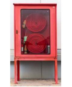 ตู้เก็บสายส่งน้ำดับเพลิงพร้อมถาดรองสายสองเส้นแบบนอกอาคารชนิดแขวนลอย 80x110x30 cm.