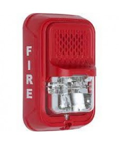 SYSTEMSENSOR Strobe, Selectable Candela, Wall, Red, Compact model.SGRL