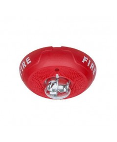 SYSTEMSENSOR 2 Wire Horn/Strobe, Selectable Candela, Ceilling, Red model.PC2RL