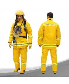 ชุดดับเพลิง Firetuf แบบเสื้อกางเกงสีเหลือง ผ้า 3 ชั้น มาตราฐาน NFPA ,UL