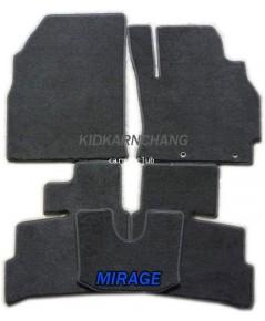พรมปูพื้นรถยนต์ แบบพรมผ้า MITSUBISHI MIRAGE