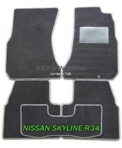 พรมปูพื้นรถยนต์ แบบพรมผ้า NISSAN SKYLINE R34