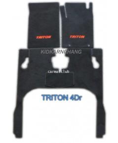 พรมปูพื้นรถยนต์ แบบพรมผ้า MITSUBISHI TRITON 4DR