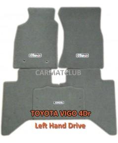 พรมปูพื้นรถยนต์ แบบพรมผ้า TOYOTA VIGO 4DR พวงมาลัยซ้าย