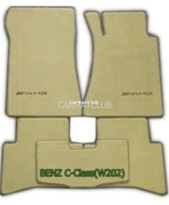 พรมปูพื้นรถยนต์ แบบพรมผ้านอก BENZ C-class W202