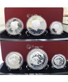 ชุดเหรียญ ปีมังกร Perth Mint ออสเตรเลีย เนื้อเงินขัดเงา ปีค.ศ.2012
