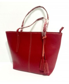 กระเป๋าหนังแท้ tlux  Item  NA00R  สีแดง