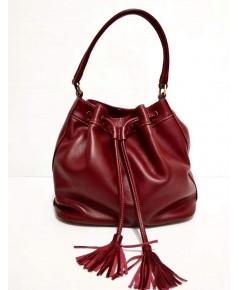 กระเป๋าหนังวัวแท้ Tlux item NT023R สีแดง
