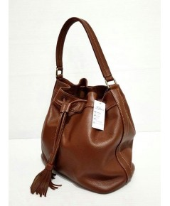 กระเป๋าเป้ หนังวัวแท้ Tlux item NT023B สีแทน