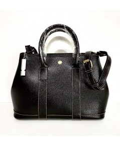 กระเป๋าหนังวัวแท้ Tlux item DQ002A สีดำ