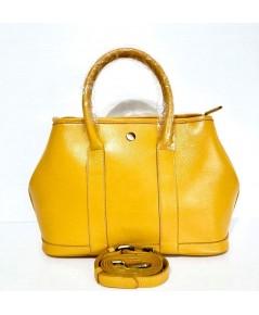 กระเป๋าหนังวัวแท้ Tlux item DQ002Y สีเหลือง
