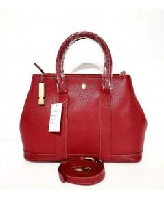 กระเป๋าหนังวัวแท้ Tlux item DQ002R สีแดง