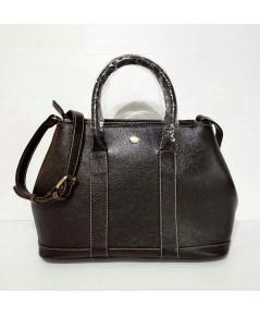 กระเป๋าหนังวัวแท้ Tlux item DQ002C สีช๊อค