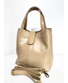 กระเป๋าหนังวัวแท้ Tlux item PP00   สีครีม