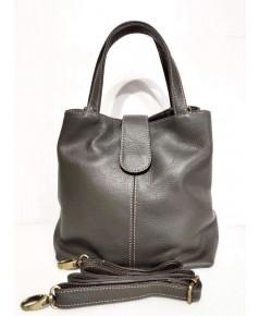 กระเป๋าหนังวัวแท้ Tlux item PP00K   สีเทา