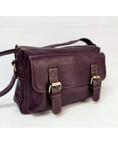 กระเป๋าหนังวัวแท้ Tlux item QE002N   สีม่วง