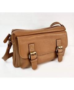 กระเป๋าหนังวัวแท้ Tlux item QE002B   สีแทน