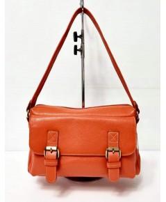 กระเป๋าหนังวัวแท้ Tlux item QE002L   สีส้ม