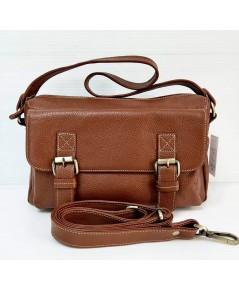 กระเป๋าหนังวัวแท้ Tlux item QE002BB   สีน้ำตาล