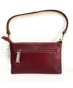 กระเป๋าหนังวัวแท้ Tlux item QGOOR  สีแดง