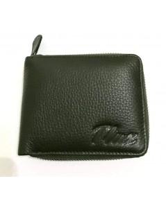 กระเป๋าสตางค์หนังวัวแท้ Tlux item No.56  สีเขียว