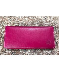 กระเป๋าสตางค์หนังวัวแท้ Tlux item No.58  สีชมพู